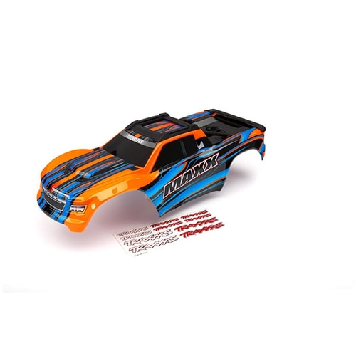 AX8911T Body, Maxx®, orange (painted)/ decal sheet