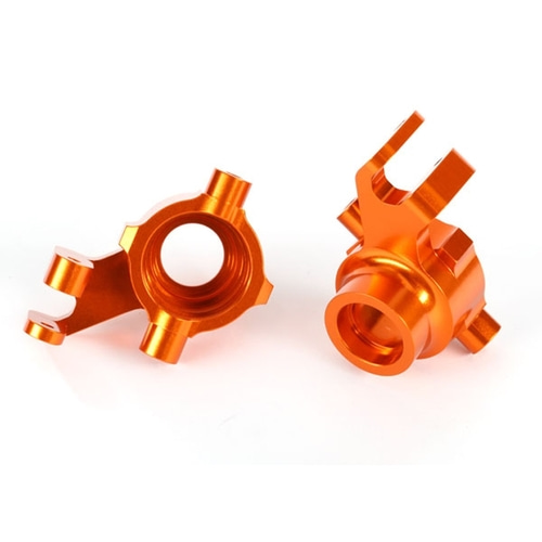 AX8937A Steering blocks, 6061-T6 aluminum (orange-anodized), left & right