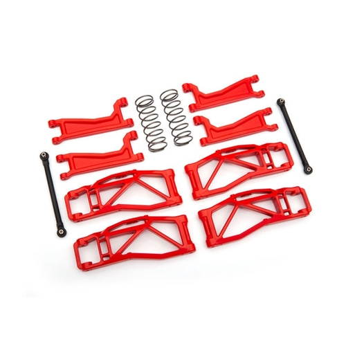 AX8995R Suspension kit, WideMAXX™, red (includes front & rear suspension arms, front toe links, rear shock springs)