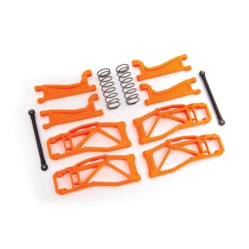 AX8995T Suspension kit, WideMAXX™, orange (includes front & rear suspension arms, front toe links, rear shock springs)