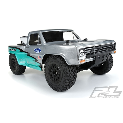 2020-NEW AP3551-17 Pre-Cut 1967 Ford® F-100 Race Truck Clear Body for Slash®