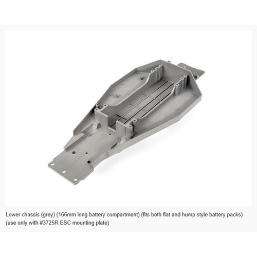 AX3722R LOWER CHASSIS 166mm FLT/HMP GR(GREY)