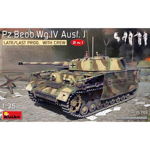 BE35344 1/35 Pz.Beob.Wg.IV Ausf.J Late,Last Production 2 in 1 with Crew